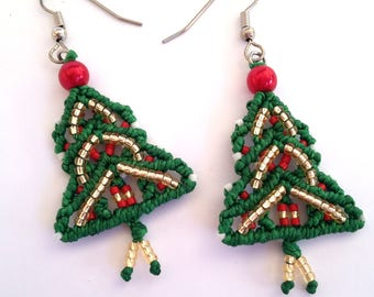 earrings pin jewelry tree layered necklace beading flower christmas instructions pendant holiday trees beaded elegant tutorial directions pattern making