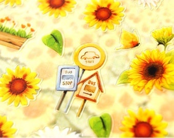 sunflower deco sticker - 1 Sheet