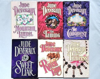 Jude Deveraux Vintage Set of Six Hardcover Romance Novels