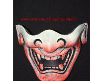 Half cover Hannya Kabuki mask, Airsoft mask, Halloween costume & Cosplay mask, Halloween mask, Steampunk mask, Wall mask, Samurai MA128 et