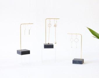 MILA black I Earrings display I Earrings stand I Earrings Holder I Brass Wood I Earrings organizer I Earrings storage I Jewelry display