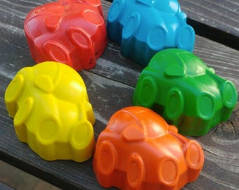 Car Crayons set of 10 - Car Birthday Party Favors - Cars Party Favors - Kids Party Favors - Kids Car Gifts - Shaped Crayons - Birthday Treat