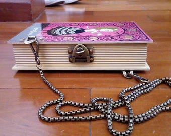 Book Clutch Alice's Adventures in Wonderland by Lewis Carroll Literary Vintage Book Purse Made to Order