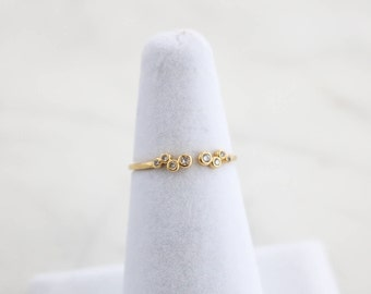 NEW* Scatter Crystal Ring, Adjustable ring, Minimalist ring, Crystal ring, stackable ring, Statement ring, stacking ring, dainty ring, thin