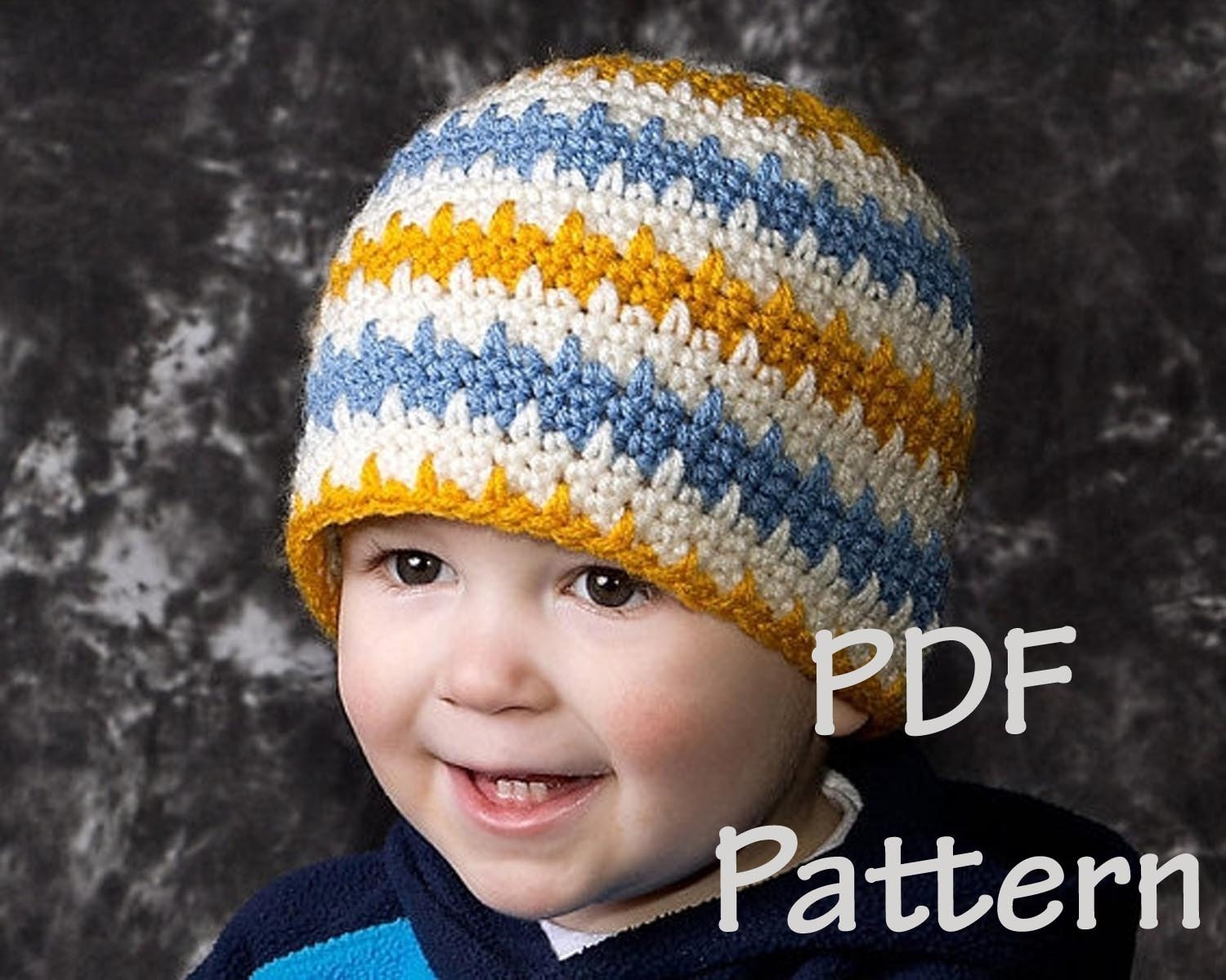 Instand download permission to sell Easy crochet beanie