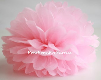 1 High Quality PASTEL PINK Tissue Pom Pom - Choose any of 50 colours - Hanging  Paper flower - Tissue paper balls - Tissue paper pom poms