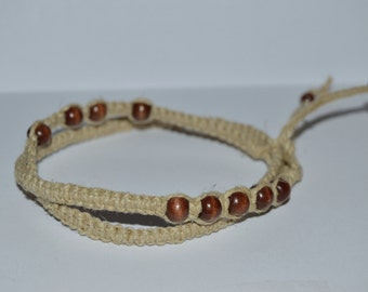 Double-Wrap Hemp Anklet