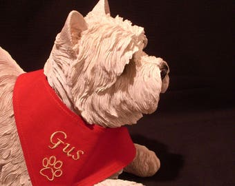 Accessory scarf for your dog with his name XXS - XS - S - M