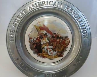 Bicentennial American Revolution Pewter Plate