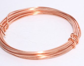 15,17, 18, 20, 24 , 28 Dead soft wire, Copper Wire - Wrapping Wire, Jewelry-Making Wire - You Pick Gauge - 100% Guarantee - Round wire