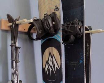 Snowboard & Ski Wall Rack Mount