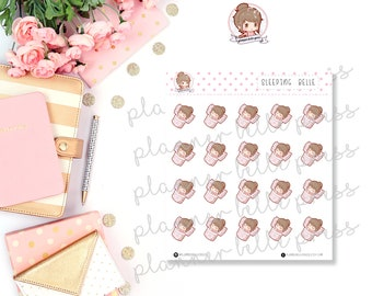 Sleeping Belle || Stationary Stickers, Planner Stickers