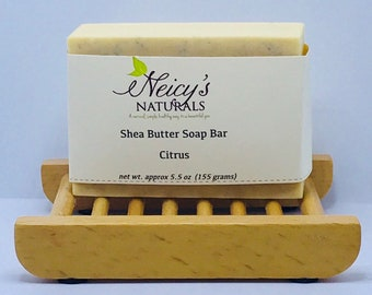 Citrus Soap Bar | Shea Butter | Colloidal Oatmeal | 5 - 5.5 oz | Handcrafted Melt & Pour