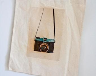 Diana Camera Cotton Tote Bag -  photo transfer bag