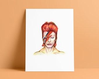Starman - Bowie, David Bowie Fan Art Giclee Print