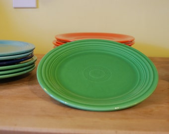 Vintage Fiesta pottery 9 inch luncheon plates