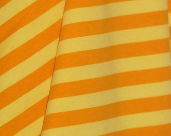 Knit Buttercream Yellow Stripes Fabric 1/2 yard