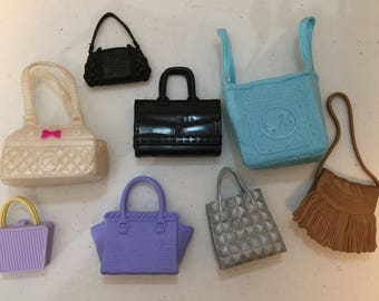 Barbie accessories lot of purses briefcase and pet carrier fashion avenue accesories