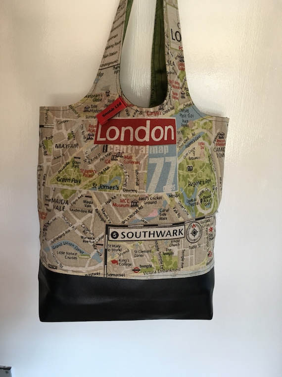 S - 598 Small shopper - London map design