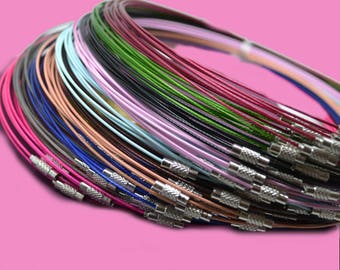 10 turns of the neck diameter 17.5 cm multicolored coated steel