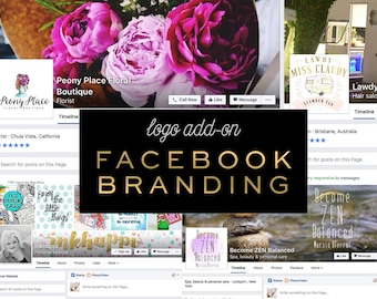 Facebook Branding Design, Facebook Cover Design, Facebook Profile Picture Design Custom Logo Design Add-on