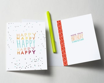 Pile of Happy Greeting Card
