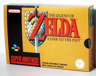 Zelda a Link to The Past -  Super Nintendo SNES Box + pastille