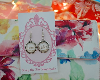 William Shakespeare  - Romeo and Juliet earrings