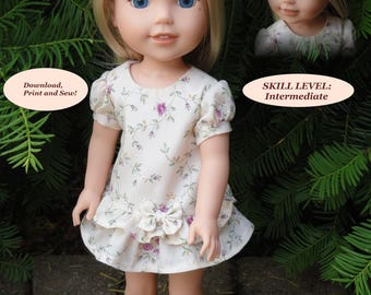 PDF Doll Clothes Pattern for 14.5'' Wellie Wishers American Girl by NVME WW-24