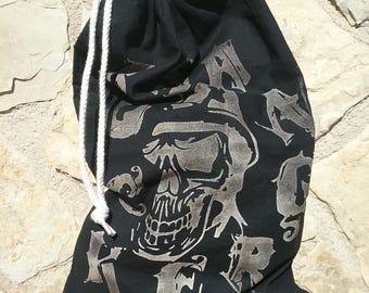 Cotton bag with print Rock Sangre and Skull 2 variations
