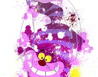 Cheshire Cat Inspired Digital Painting