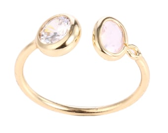 double crystal ring,