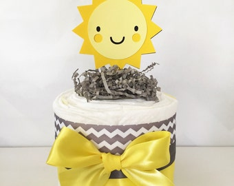 You are My Sunshine Mini Diaper Cake, You are My Sunshine Baby Shower Centerpieces