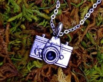Tibetan Silver Camera Photography Pendant Charm Necklace