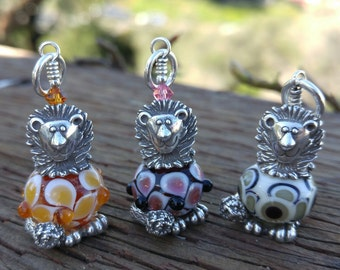 Sterling Silver & Lampwork Lion Bead Critter