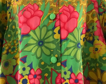 Groovy Vintage Dress/Mumu with pockets!!