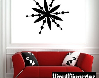 Snowflakes Vinyl Wall Decal Or Car Sticker - Mv026ET