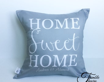 House Warming Gift | New Home Housewarming Gift | New House Gift | New Homeowner House Warming Gift | Personalized Pillow | Our Home