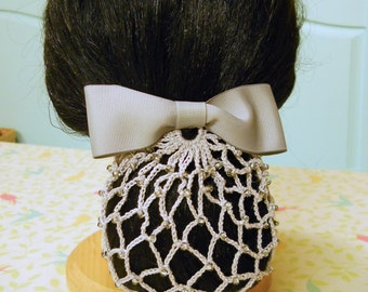 Retro Beaded Chignon Snood Pattern