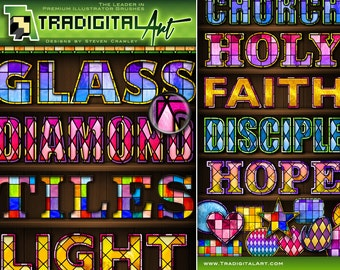 Stained Glass Photoshop Styles