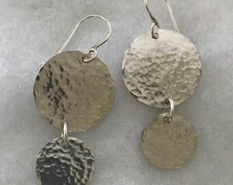 2 Circle Disc Earrings