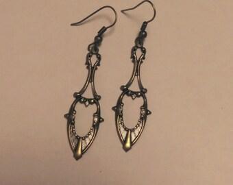 Art Nouveau Ornate Dangle Earrings