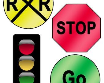 DIGITAL DOWNLOAD Set of 18 Printable Road Signs