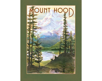 Mount Hood Giclee Fine Art Print of Original Watercolor Painting