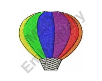 Hot Air Balloon - Machine Embroidery Design
