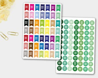Pay Day Stickers, Pay Day, Life Planner, Planner Sticker,  Erin Condren