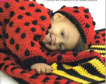 Cute as a Bug Hats, Sweaters & Blankets ~  Crochet Book ~ Leisure Arts ~  New Release