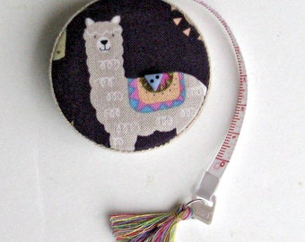 Retractable Tape Measure with Alpaca for Sewing, Knitting, Crochet, Weaving, Felting and all Fiber Arts, Gift