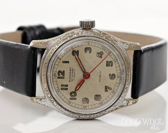vintage watch - magnat - swiss wwii-era military-style watch - as1194