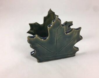 Ceramic Sponge Holder, Maple Leaf Sponge Holder, Handmade, Napkin Holder, Letter Holder, Sink Organizer, Gift under twenty, Hostess Gift
